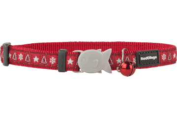 Red Dingo Cat Collar Santa Paws Red CC-SP-RE