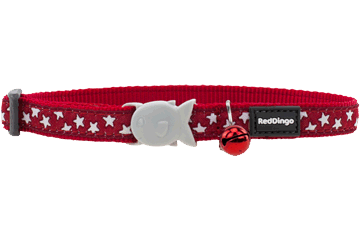 Red Dingo Cat Collar Stars Red CC-ST-RE