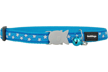 Red Dingo Cat Collar Stars Turquoise CC-ST-TQ