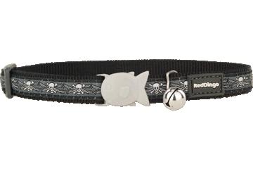Red Dingo Cat Collar Skull & Wire Black CC-SW-BB