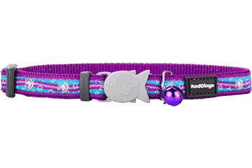 Red Dingo Cat Collar Unicorn Purple CC-UC-PU