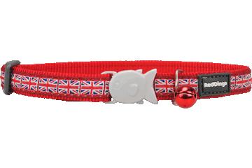 Red Dingo Cat Collar Union Jack Red CC-UK-RE