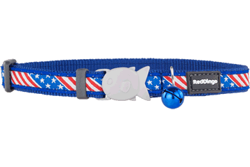Red Dingo Cat Collar Stars & Stripes Dark Blue CC-US-DB