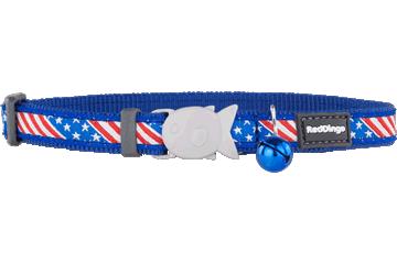 Red Dingo Cat Collar Stars & Stripes Dark Blue CC-US-DB