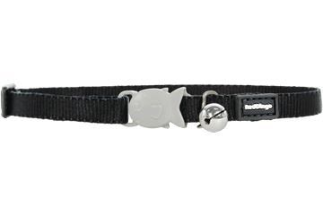Red Dingo Kitten Collar Classic Noire CC-ZZ-BB-XS