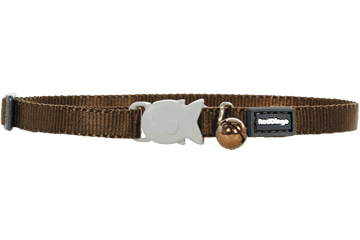 Red Dingo Kitten Collar Classic Brown CC-ZZ-BR-XS
