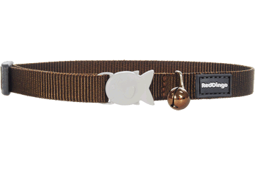Red Dingo Cat Collar Classic Brown CC-ZZ-BR