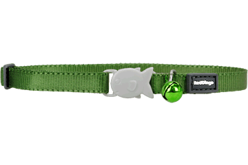 Red Dingo Kitten Collar Classic Green CC-ZZ-GR-XS