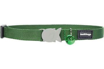 Red Dingo Cat Collar Classic Verde CC-ZZ-GR