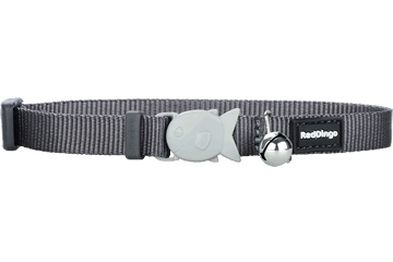 Red Dingo Cat Collar Classic Cool Grey CC-ZZ-GY