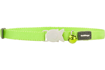 Red Dingo Kitten Collar Classic Lime Green CC-ZZ-LG-XS