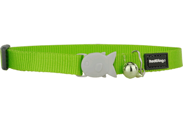 Red Dingo Cat Collar Classic Lime Green CC-ZZ-LG
