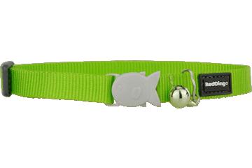 Red Dingo Cat Collar Classic Lime Green CC-ZZ-LG