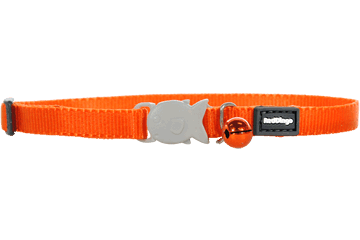 Red Dingo Kittenhalsband Klassiek oranje CC-ZZ-OR-XS