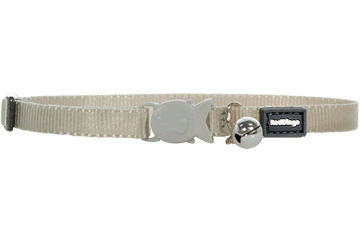Red Dingo Kitten Collar Classic Silver CC-ZZ-SI-XS