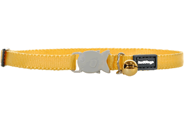 Red Dingo Kitten Collar Classic Giallo CC-ZZ-YE-XS