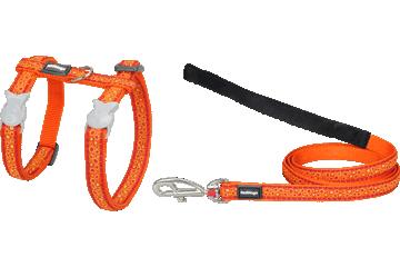 Red Dingo Cat Harness & Lead Bedrock Orange CH-BE-OR