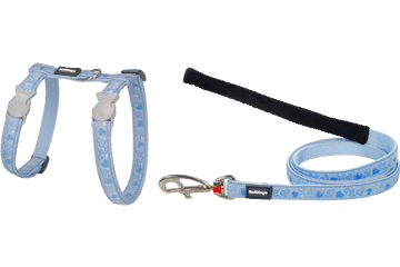 Red Dingo Cat Harness & Lead Breezy Love Light Blue CH-BZ-LB