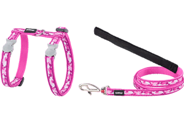 Red Dingo Cat Harness & Lead Camouflage Hot Pink CH-CF-HP