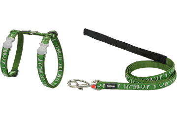 Red Dingo Cat Harness & Lead Circadelic Green CH-CI-GR