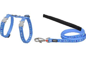 Red Dingo Cat Harness & Lead Circadelic Medium Blue CH-CI-MB