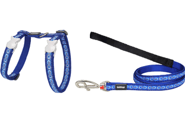 Red Dingo Cat Harness & Lead Cosmos Dark Blue CH-CO-DB