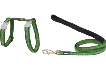 Red Dingo Cat Harness & Lead Cosmos Green CH-CO-GR