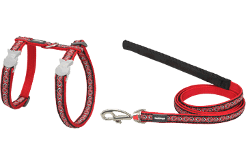 Red Dingo Cat Harness & Lead Cosmos Red CH-CO-RE