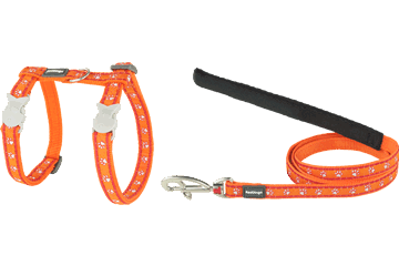 Red Dingo Cat Harness & Lead Desert Paws Orange CH-DP-OR