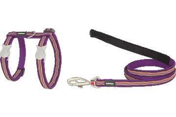 Red Dingo Cat Harness & Lead Dreamstream Purple CH-DS-PU