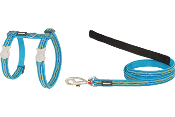 Red Dingo Cat Harness & Lead Dreamstream Turquoise CH-DS-TQ