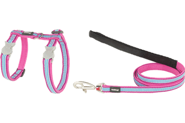 Red Dingo Cat Harness & Lead Fang It Hot Pink CH-FG-HP