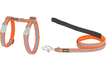 Red Dingo Cat Harness & Lead Fang It Orange CH-FG-OR