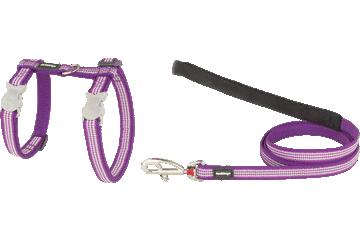 Red Dingo Cat Harness & Lead Fang It Purple CH-FG-PU
