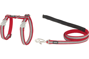Red Dingo Cat Harness & Lead Fang It Red CH-FG-RE