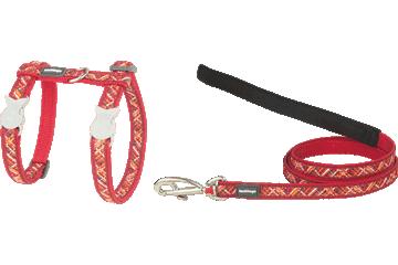 Red Dingo Kedi Göğüs Tasması ve Uzatma Kombo Flanno Kırmızı CH-FN-RE