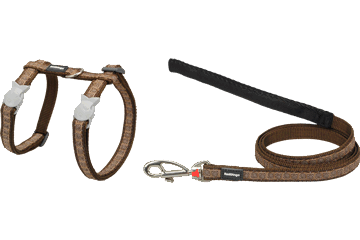 Red Dingo Cat Harness & Lead Hypno Brown CH-HY-BR