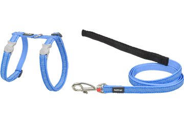 Red Dingo Cat Harness & Lead Hypno Medium Blue CH-HY-MB