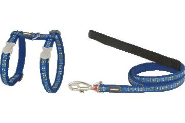 Red Dingo Cat Harness & Lead Lotzadotz Dark Blue CH-LD-DB