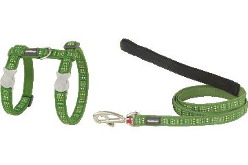 Red Dingo Cat Harness & Lead Lotzadotz Green CH-LD-GR