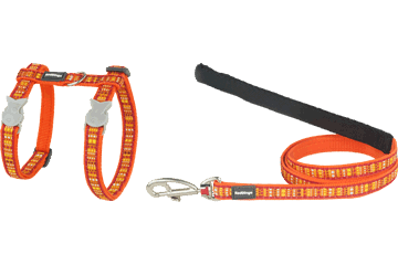 Red Dingo Cat Harness & Lead Lotzadotz Orange CH-LD-OR