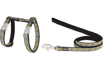 Red Dingo Cat Harness & Lead Monty Black CH-MY-BB