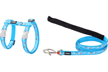 Red Dingo Cat Harness & Lead Penguin Turquoise CH-PE-TQ