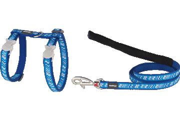 Red Dingo Cat Harness & Lead Pizzazz Dark Blue CH-PZ-DB