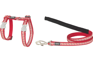 Red Dingo Cat Harness & Lead Reflective Ziggy Red CH-RZ-RE