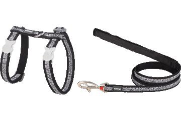Red Dingo Cat Harness & Lead Safari Black CH-SA-BB