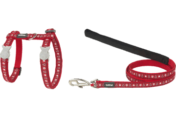 Red Dingo Cat Harness & Lead Santa Paws Red CH-SP-RE