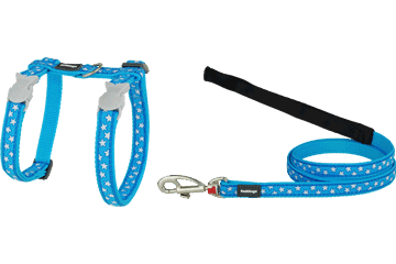Red Dingo Cat Harness & Lead Stars Turquoise CH-ST-TQ