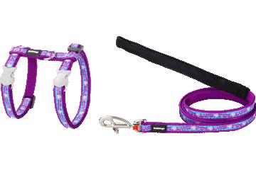 Red Dingo Cat Harness & Lead Unicorn Purple CH-UC-PU