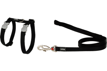 Red Dingo Cat Harness & Lead Classic Black CH-ZZ-BB
